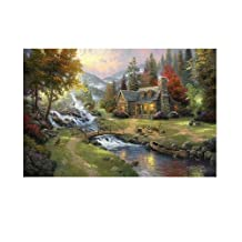 Printed Thomas Kinkade landscape oil painting prints on canvas wall art picture for home decorations 16x24 Inch