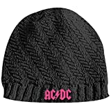 ACDC - Girls Ribbed Blk Knit Beanie