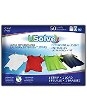 USolve New Eco-Friendly Ultra Concentrated Laundry Detergent Strips (50 Loads), The Future of Laundry - Fresh Scent – More Convenient than Pods, Pacs, Liquids or Powders – Great for Home, Dorm, Travel, Camping & Hand-Washing.