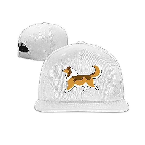 Rough Collie Plain Adjustable Snapback Hats Men's Women's Baseball Caps 1