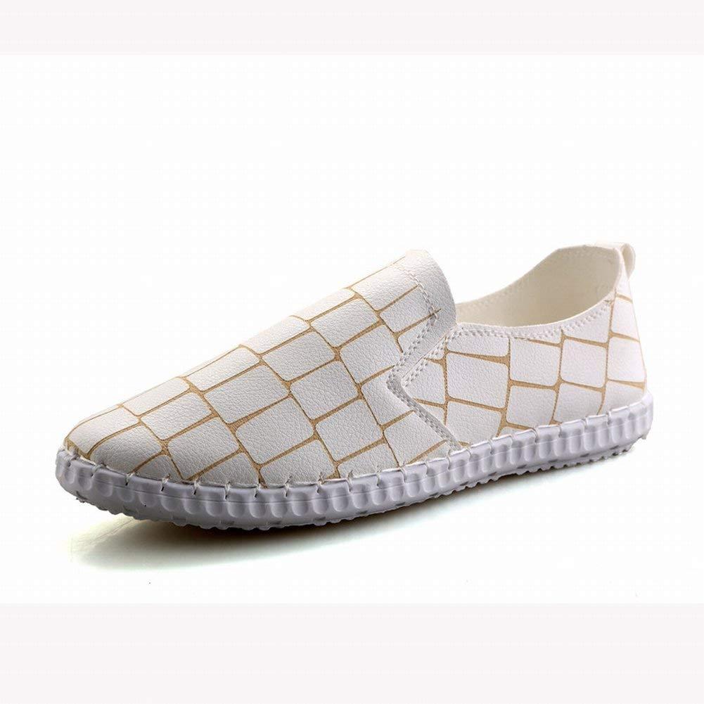 Oudan Herren Peas Schuhe Einfachen Trend Setzt Casual Herrenschuhe (Farbe   Weiß Größe   EU 40)
