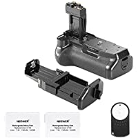 Neewer Replacement Battery Grip BG-E8 for Canon 550D/600D/650D/700D Rebel T2i/T3i/T4i/T5i+2Replacement Rechargeable 7.4V 1350mAh LP-E8 Battery+Infrared Remote Controller