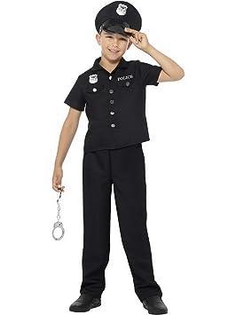 Confettery – Disfraz de policía York, Carnaval, 104-170, Color ...