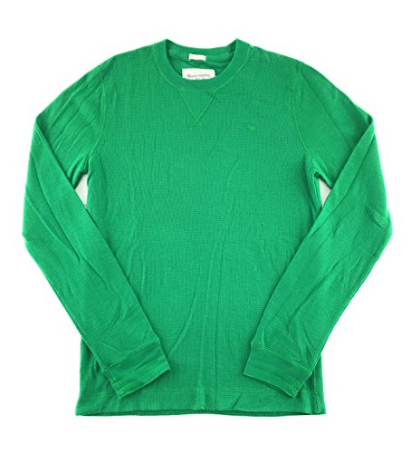 Abercrombie & Fitch Mens Long Sleeve T-Shirt Green Solid 0750 Small from Abercrombie & Fitch