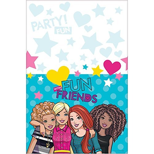 amscan Table Cover, Barbie & Friends Collection, Party Accessory, Multicolor