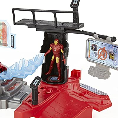 Marvel Avengers Age of Ultron Iron Man Lab Attack Playset: Toys & Games