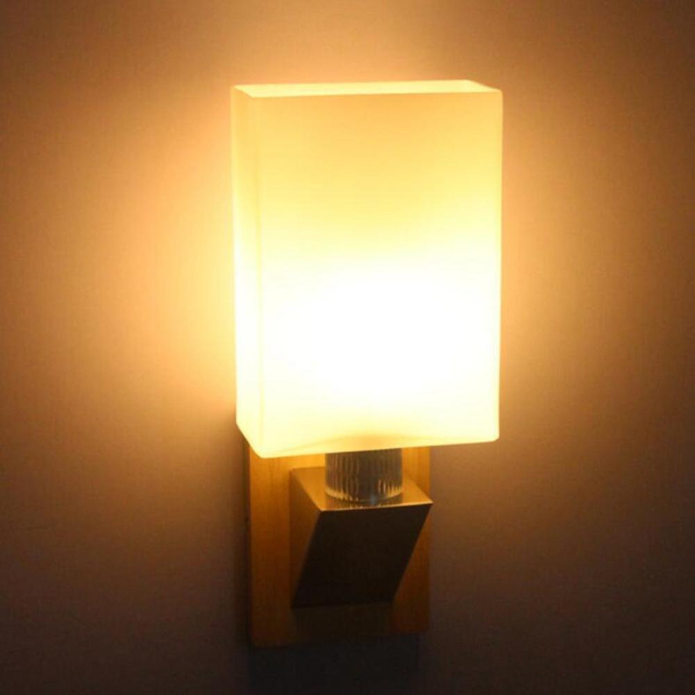 JIN Chinese Modern Creative Wall Lamp Aisle Bedside Corridor Wooden Solid Wood LED Energy - Saving Wall Lamp Hotel Restaurant Wall Lamp , Warm Light