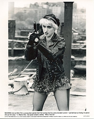 Madonna Original 1987 8x10 Photo With Suspenders & Stockings Who's That Girl