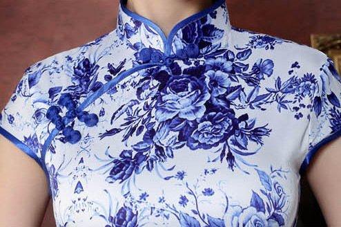 Blumen Robe Femme Blaue Large Acvip Crayon 2 PqgOR