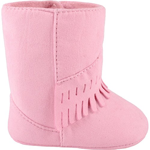 b034c838134 Wee Kids Baby-Girls Suede Cloth Western Baby Boots with Fringe Trim ...