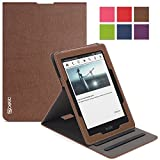Kindle Voyage Case - Poetic Kindle Voyage Case [Sophistication Series] - [Lightweight] [Vertical Viewing Stand] PU Leather Flip Cover Case for Amazon Kindle Voyage Brown (3 Year Manufacturer Warranty From Poetic)