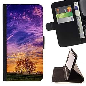 Momo Phone Case / Flip Funda de Cuero Case Cover - Colorido Valle;;;;;;;; - Samsung Galaxy J1 J100