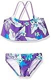 Kanu Surf Big Girls' Alania Flounce Bikini Beach Sport 2-Piece Swimsuit, Floral Purple, 7