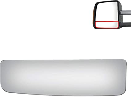 Right Passenger Mirror Glass Lenses Upper Heated /& Lower for 07-19 Toy Tundra