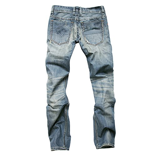 LAEMILIA Herren Slim Fit Destroyed Look Denim Hose