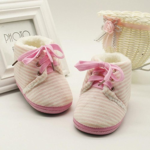 Huhu833 Kinder Mode Baby Stiefel Soft Sole, Keep Warm Schnee Stiefel, Kleinkind Stiefel Warm Schuhe (0-18 Month) Pink