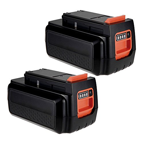 MASIONE 2 Pack 40v Max Lithium Battery for Black & Decker 36V 40-Volt Max Cordless Power Tools Trimmer Edger Sweeper Chainsaw LCS1240 (36 Volt Tools)