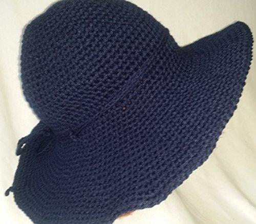 Blue Crochet brim Hat by Agsbydesign/Something Elegant