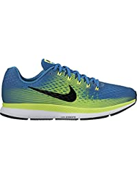 Nike Men's Air Zoom Pegasus 34 Running Shoe INDUSTRIAL BLUE/BLACK-VOLT-CHLORINE BLUE 12.5