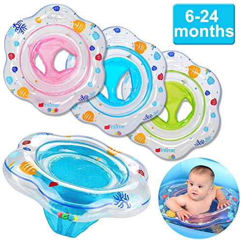 Funburg Baby Swimming Ring,Inflatable Float with Double Airbag Safety Seat,Pool Bathtub Float Infant Boys Girls Summer Pool,Training Aid PVC Pool Floats for Toddlers of 6-24 Months