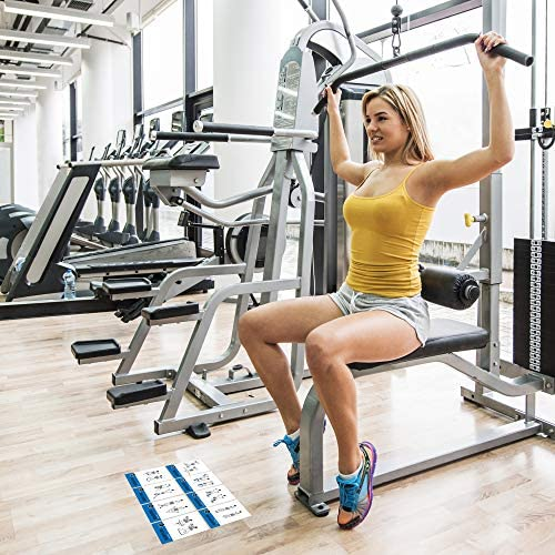 pour Homme et Femme : Grande Taille Durable imperm/éable Lot de 62 Cartes dexercice pour la Musculation guid/ée pour la Maison ou la Salle de Gym : Cartes de Fitness illustr/ées avec 50 Exercices