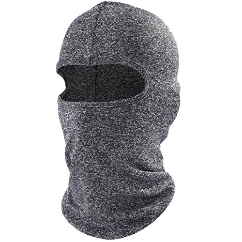 AXBXCX Balaclava Full Face Mask Windproof Longer Neck Cover Hood for Sun Protection Outdoor Sport Skiing Snowboarding Hunting Motorcycling Bodybuilding for Men and Women Gray (Diamond Tactical Full Face Protection Ghost Balaclava Mask)
