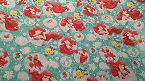 Christmas Wrapping Little Mermaid Holiday Paper Gift Greetings 1 Roll Design Festive Wrap Barbie (Homemade Mermaid Costume For Adults)