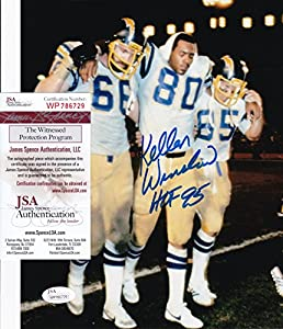 KELLEN WINSLOW signed San Diego Chargers 8x10 Photo + JSA Witness COA