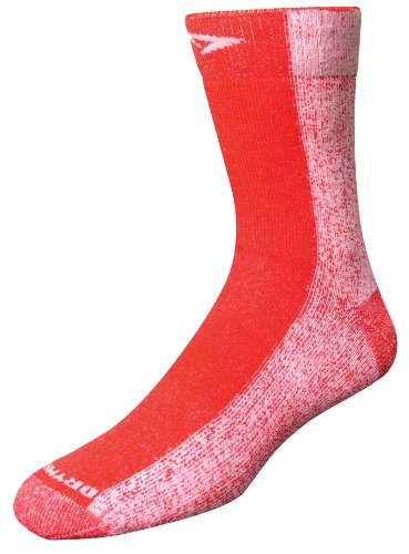 Drymax Cold Weather Run Crew Socks, Red, Large (W10-12 / - Cold Weather Running Shoes