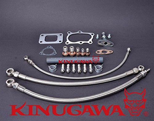 Kinugawa Turbo Oil & Water Line Kit FOR Nissan RB25DET Skyline Stock T3