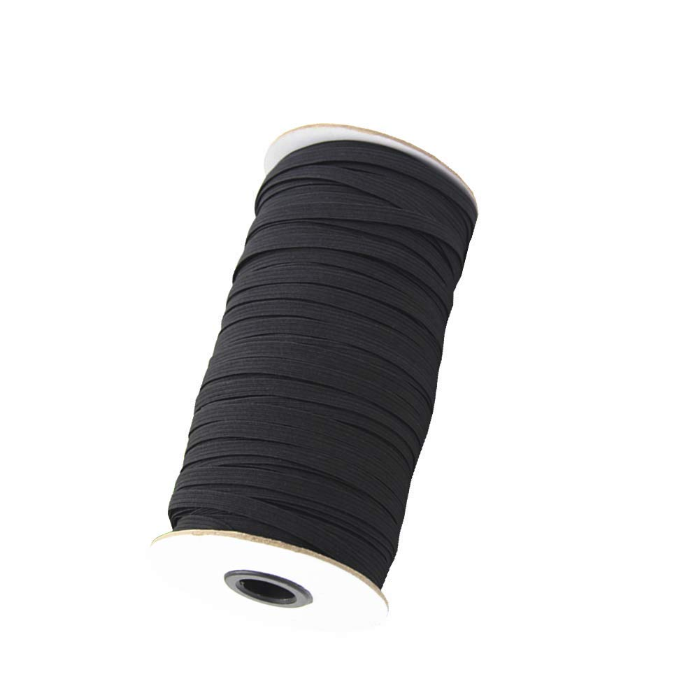 70 Yards Braided Elastic, Springy Stretch Braided Elastic Cord Elastic Band (White, 1/4 Inch) Aarrow