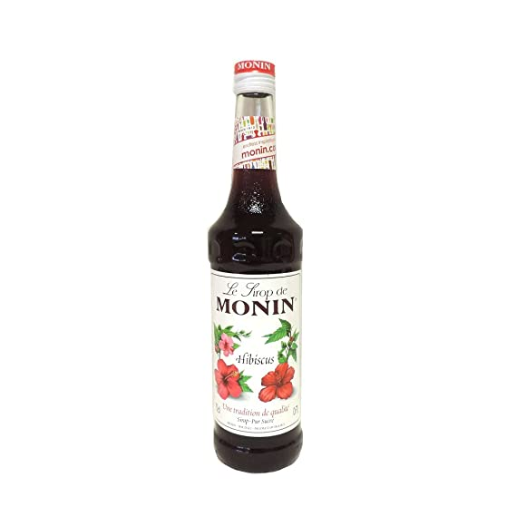 Monin Hibiscus Syrup Syrups And Cordials Amazoncouk Grocery
