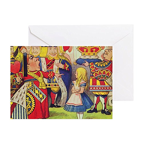 CafePress - The Queen Of Hearts With Alice - Greeting Card, Note Card, Birthday Card, Blank Inside Matte