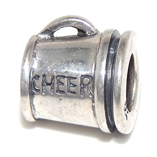 Pro Jewelry 925 Solid Sterling Silver 'Cheer' Megaphone Charm Bead