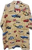David Carey Chevy Camaro Classic Cars Camp Hawaiian Shirt (L) Beige