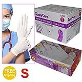 Sunnycare #7701 White Synthetic Vinyl Medical Exam Gloves Powder Free Size: Small 1000pcs/case ;100pcs/box;10boxes/case