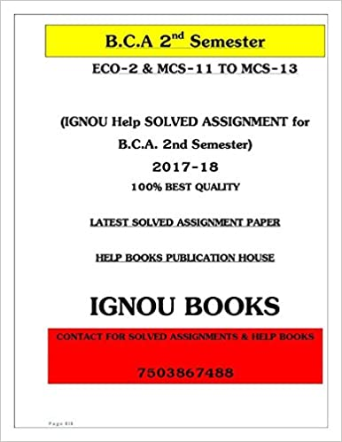 Ignou Bca Book