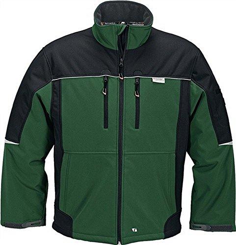 Herren-Softshelljacke 2-farbig (XL, grün/schwarz (4210))