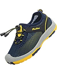 PPXID Boy's Outdoor Adventure Seeking Skidproof Mesh Athletic Hiking Shoes