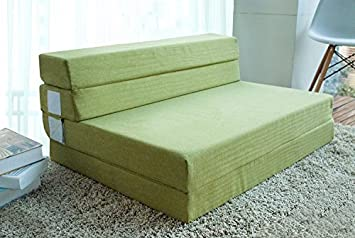 Merax 4 Inch Memory Foam Folding Mattress and Sofa Guest Sofa Z Bed  Sleeping Mattress 74&quot