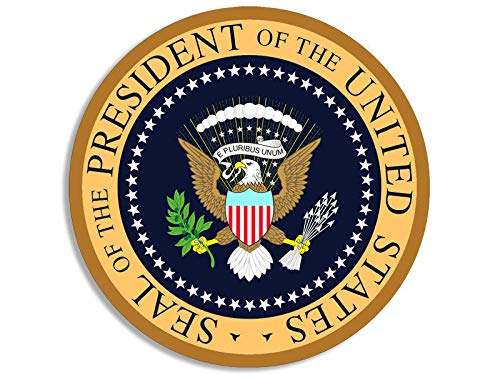 MAGNET 4x4 inch ROUND Presidential Seal AIR FORCE ONE COLORS Sticker - president trump Magnetic vinyl bumper sticker sticks to any metal fridge, car, signs