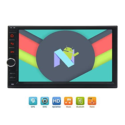 "Newest 8-Core Android 7.1 Car Stereo with 7"" Touchscreen In Dash Double Din"