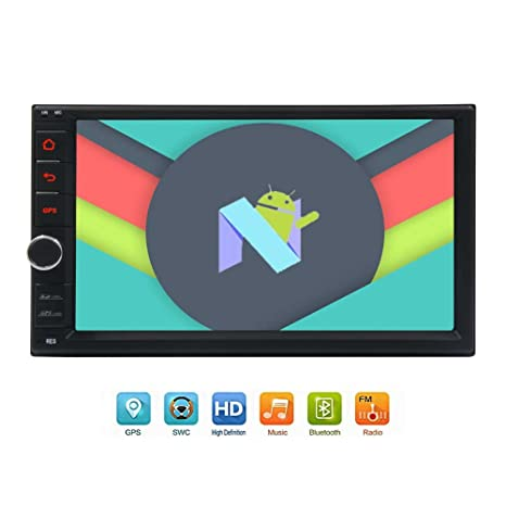 Eincar Qcta Core coches reproductor de DVD Android 7.1 GPS de la radio estéreo 6.2 pulgadas