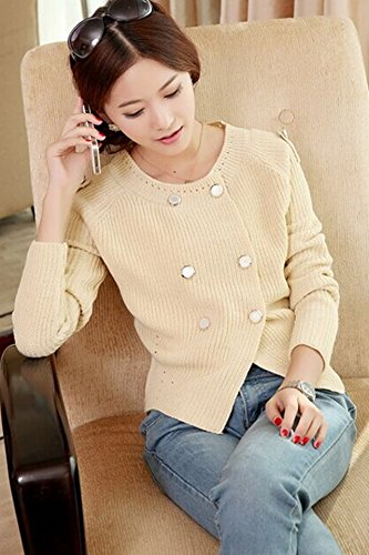 Generic autumn new Korean fashion _bright_ silk double - breasted knit cardigan jacket