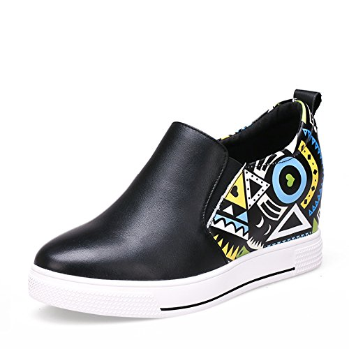 Aumentó dentro de los holgazanes/Zapatos de plataforma casual suela gruesa/Zapatos de cuñas A