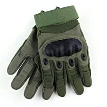 Tactical Gloves , ADiPROD (1 Pair) Hard Knuckle Full Finger for Outdoor Shooting Army Airsoft Gear