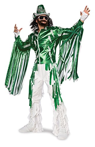 Wwf Wrestlers Fancy Dress Costumes (Rubie's Costume Co Men's WWE Randy Savage Grand Heritage Costume, Multi, X-Large)