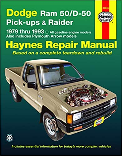Dodge Ram 50/D-50 Pick-ups & Raider & Plymouth Arrow Pick-ups (79-93)  Haynes Repair Manual (Does not include info specific to diesel engines.  Includes coverage apart from specific exclusion noted): Haynes:  0038345005565: Amazon.com:Amazon.com