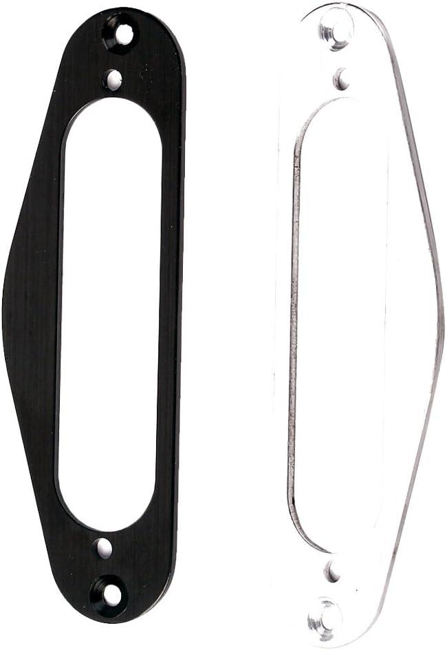 2 Stück Single Coil Pickup Plates Halter Halterung Montagering für Gitarre