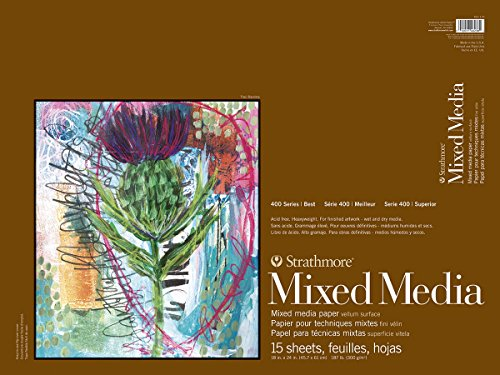 Strathmore 462-118 400 Series Mixed Media Pad, 18''x24'' Glue Bound, 15 Sheets by Strathmore